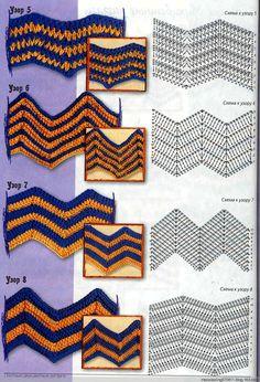 Conceptos básicos de ganchillo: 30 tipos de giros y vueltas patrón decorativo (ondulado) - Maomao - I Move Your Feet