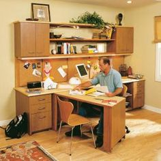 DIY office wall