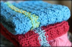 Knitted dishcloths for spring cleaning from #Walmart Mom, Amy.