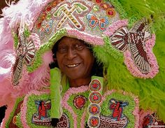 Mardi Gras Indians in New Orleans. (Image from flickr, courtesy of Groovescapes.)