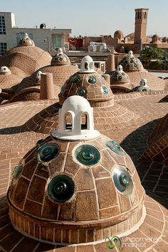 Rooftop of Hammam-e Sultan Mir Ahmad - Kashan, Iran by uncorneredmarket, via Flickr