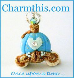 Polymer Clay Cinderella  Inspired Carriage by CharmthisClayCharms, $3.50