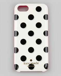 le pavillion polka-dot iPhone 5 case, black/white/pink by kate spade new york at Neiman Marcus.