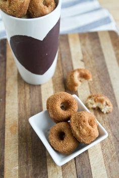 Healthy whole wheat banana nut doughnuts!