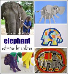rubberboots and elf shoes: elephant activities for children