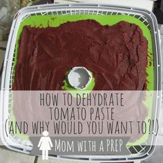 How to Dehydrate Tomato Paste - and why would you even want to ?