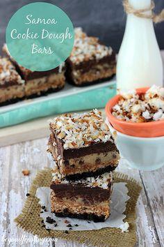 Samoa Cookie Dough Bars | beyondfrosting.com | #samoa by Beyond Frosting, via Flickr
