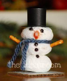 cute donut snowmen :)