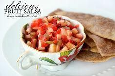 chips, cinnamon, noodl, barns, apples, recip barn, snack, salsa recipes, fruit salsa