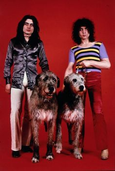 Mickey Finn, Marc Bolan and a couple of Irish Wolfhounds (?)