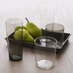 NEW Beacon Glassware  (in clear or smoke) from west elm