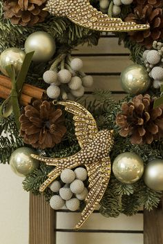Rustic Christmas wreath... www.tablescapesbydesign.com https://www.facebook.com/pages/Tablescapes-By-Design/129811416695