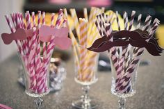 Mustache or bows? Cute ideas for baby shower if they don't know what they're having or like this party...a reveal!