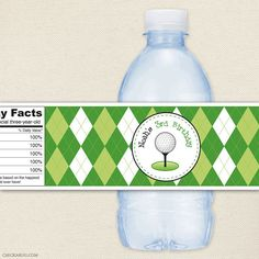 Golf party  Personalized water bottle labels