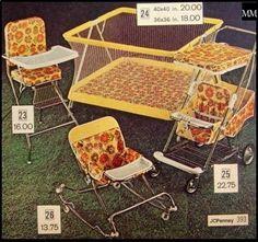Vintage baby equipment ad, 1960's - 1970's,
