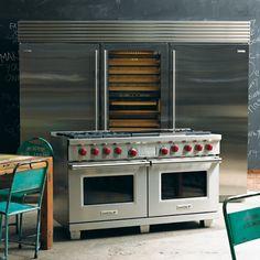 Wolf double door oven and Sub Zero