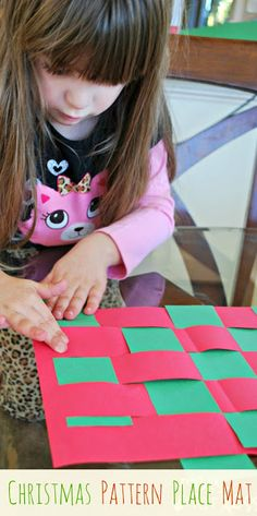 Christmas Pattern Place Mat - create a cute place mat and work on fine motor skills at the same time.