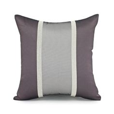"16""X16"" PURPLE & LAVENDER STRIPE DECORATIVE PILLOW COVER - Accent Pillows - Throw Pillows 