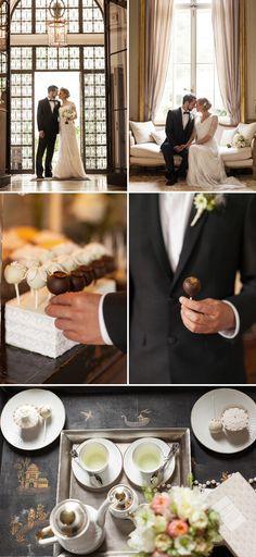 Moderne 20er Jahre Hochzeitsinspiration