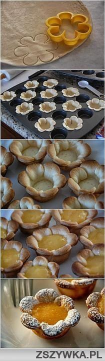 This would be great for miniature quiche or pies.. love the petals.