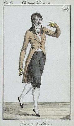 Men's ball wear, 1800.