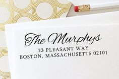 housewarm gift, ink stamp, ink address, custom address, gift idea, stationery, housewarming gifts, address stamps, gift studio