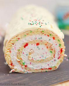 Christmas-vanilla-roll-cake Recipe - RecipeChart.com