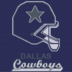 Dallas Cowboys  Version III  NFL  Afghan Crochet by YarnHookers, $5.00