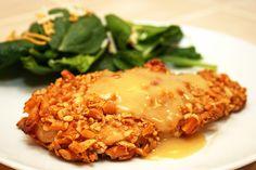 GF Honey Dijon Pretzel Chicken