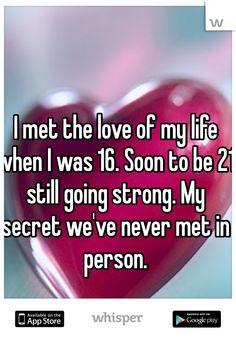 Online dating but never met