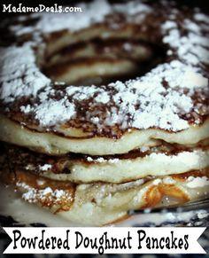Powdered Doughnut Pancakes Recipe #recipes