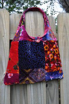 Custom Made Velvet Patchwork Bag