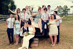 fun wedding party photo {K+C}