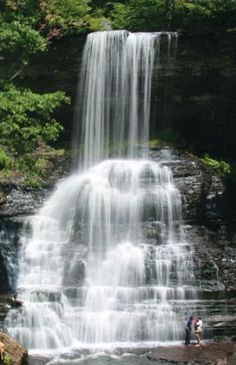 Cascade Falls, Jefferson National Forest, Giles County, VA - a place I would definitely like to visit.