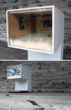 DIY Cat House: Fashionable Minimalism for Feline Loft Living   Dornob
