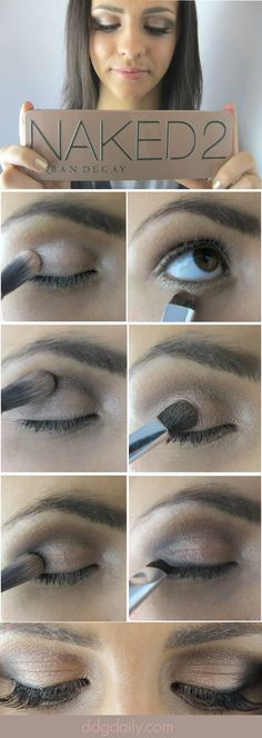 DDG DIY: Urban Decay Naked 2 Palette tutorial for a bronze smokey eye   how tos feature eye makeup and trends ddg diy beauty tips beauty 2 beauty 2 pictures