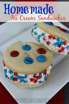 juli celebr, happi 4th, ice cream sandwiches, snack idea, camp idea, 4th of july, juli 4thmemori, juli cooki
