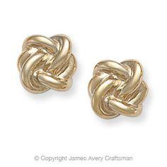 James Avery Original Lover's Knot earrings in 14K gold