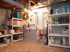 organization ideas for furnace room