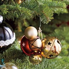 cluster ornaments on your christmas tree