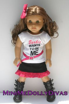 Barbie wants to be me outfit for your 18 inch by MiniMeDollyDivas, $25.00