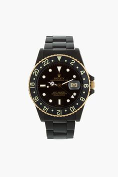Rolex Black Limited Edition, Matte Black and Gold Rolex GMT Master I