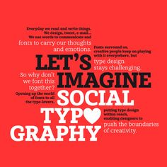 Let's imagine Social Typography