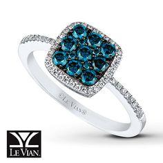 Blueberry Diamonds™ Ring 5/8 carat tw 14K Vanilla Gold™