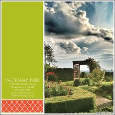 Wickham Park in Manchester Connecticut has beautiful gardens and is very affordable. It was voted the #13 wedding venue in Connecticut by the wedding experts.