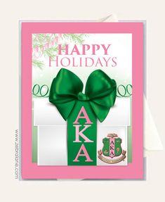 christmas cards for aka   Alpha Kappa Alpha Christmas Gift Cards