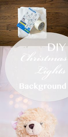 DIY Christmas Lights Background
