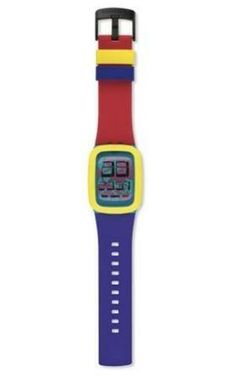 Its hard to miss the 90s style in the Yellow Tang watch from Swatch.  Please follow us @ http://www.pinterest.com/jeniferkane01/