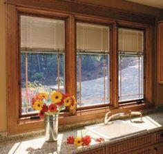 Window blinds treatments on pinterest window for Best blinds for casement windows