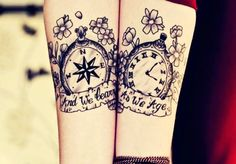 Vintage Cute Couple Tattoos - Cute Matching Couple Tattoos